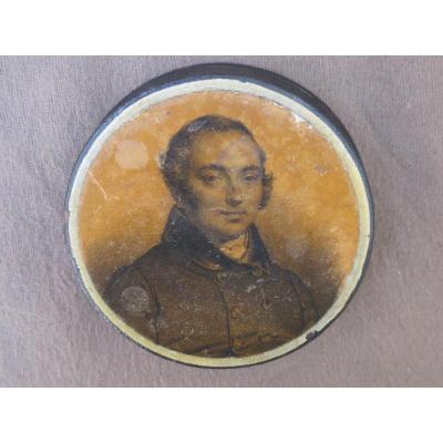 Boite Tabatière Représentant Casimir Périer XIX ème Siècle