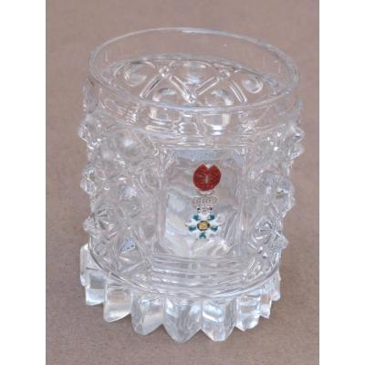 Crystal Goblet Molded With The Legion Of Honor Cristallo Ceramics Tip Glass Medal