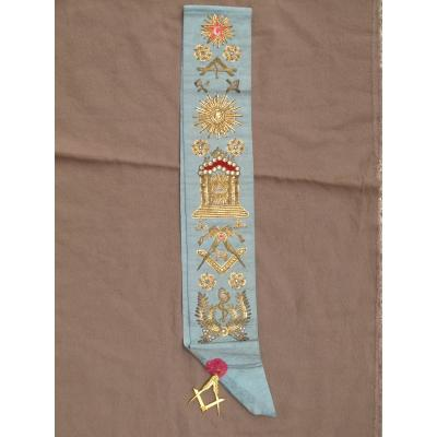 Cord Freemason Embroidered Temple Square Compass Star Mallet Sun Caduceus Trowel Level