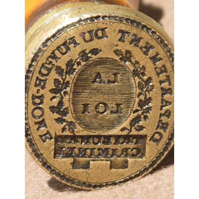 Stamp Bronze Seal Criminal Court Department Of Puy De Dome La Manche Boxwood Law