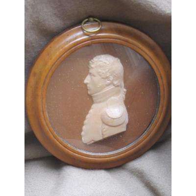 Profile Wax Military Officer Soldier Empire Napoleon Number 3 Or 8 Trace Signature Date 18 ..