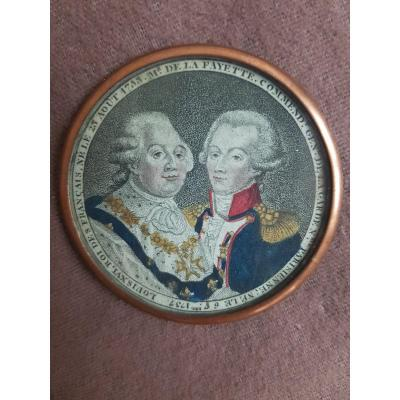 King Louis XVI And Monsieur De Lafayette Commander General Of The Parisian National Guard