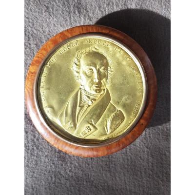 Boite Tabatière Général Foy 1775 - 1825  Député Le 27 Février 1824 Par Morel