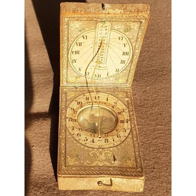 Sundial Compass Signed Stockert In Bavaria