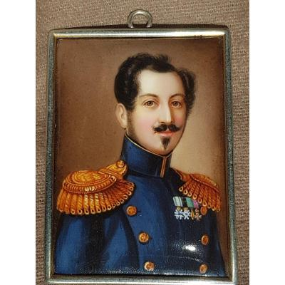 Miniature King Joseph François Oscar I Of Sweden And Norway Bernadotte