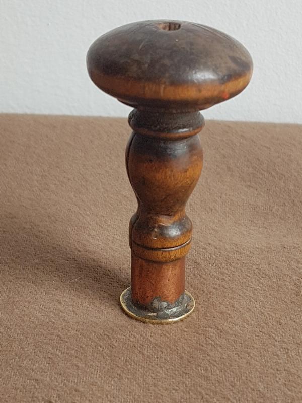 Sceau Cachet En Bronze Armoiries Du Languedoc Manche En Bois Tourné -photo-3