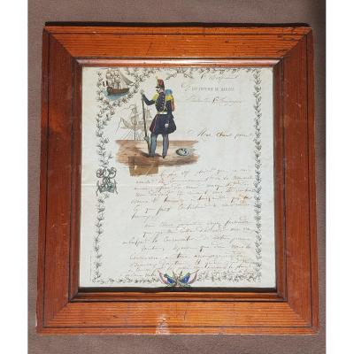 Letter From The First Marine Infantry Regiment Battalion 1 Company Soldier Anchor Ship