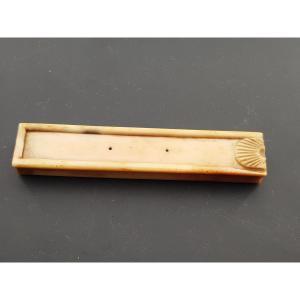 Toothpick Box Tooth With Shell Decor Eighteenth Century