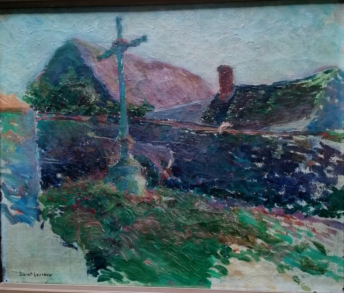 Landscape At Calvary-georges Barat-levraux-impressionist-