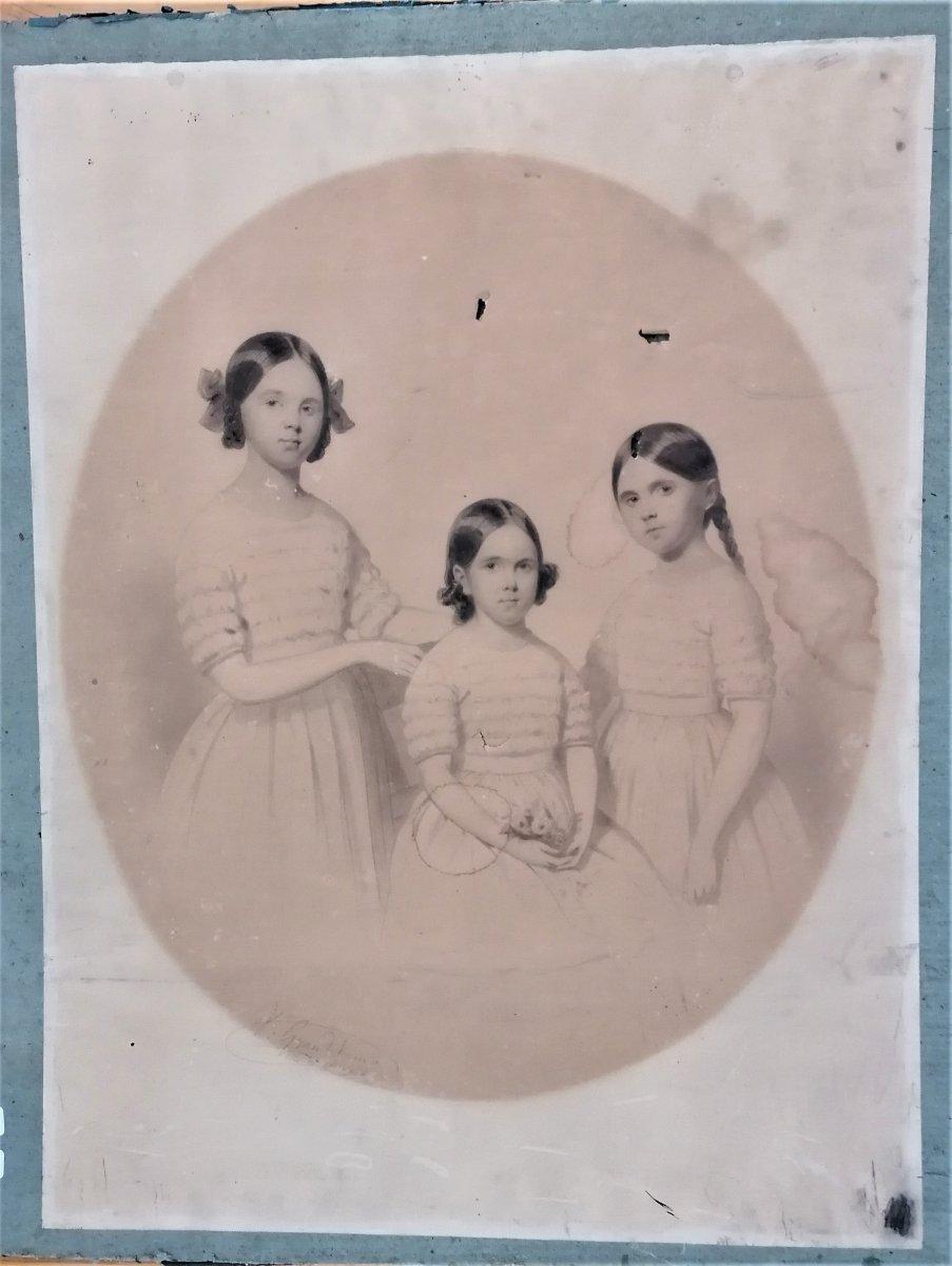Dessin-victor De Grandchamps-les 3 Soeurs-1846-