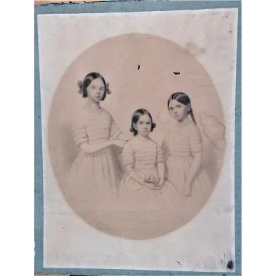 Drawing-victor De Grandchamps-the 3 Sisters-1846-