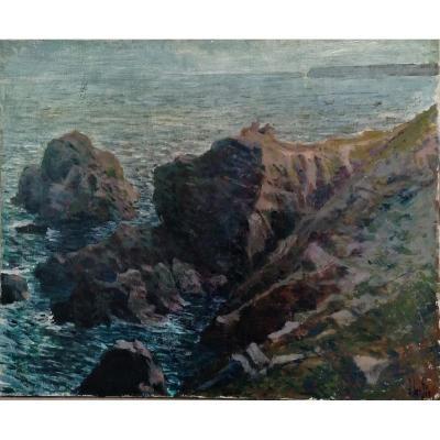 Robert Lambin - Marine- Post Impressionist School -
