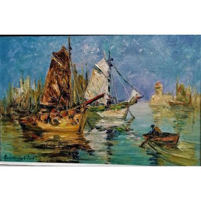 Paul Henry Lafon - Brittany - Port De Quiberon -