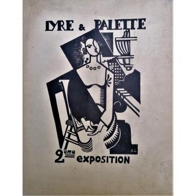 Andre Lhote-Lyre et Palette-Catalogue D Exposition-Bois Grave-