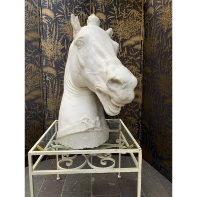Sculpture Platre Tete De Cheval