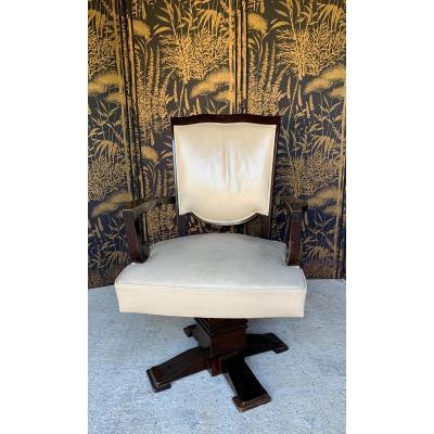 Jules Leleu Office Armchair