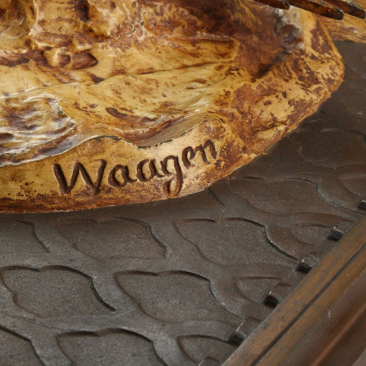Algerian Couple Pair Of Bronze Reliefs Orientalists Signed Arthur Waagen-photo-4