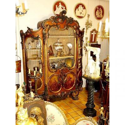 Palatial Size Vitrine Baroque Style