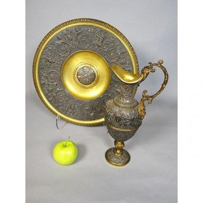 Ewer And It's Bassin In Bronze