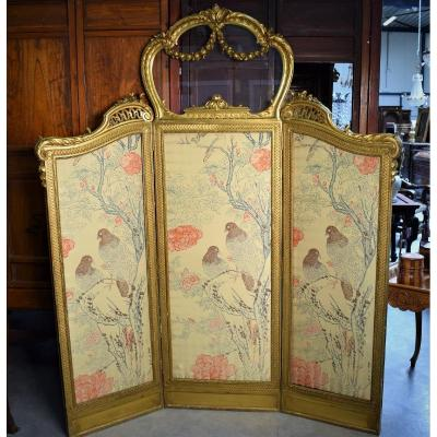 Louis XVI Style Golden Wood Screen