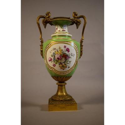 Porcelain And Gilt Bronze Vase