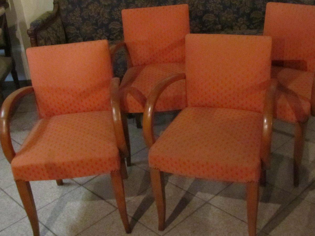 """4 fauteuils """"bridge"""" année 1930"""