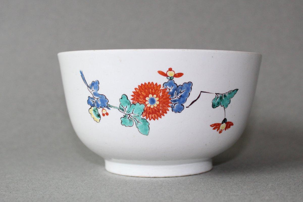 Chantilly : Bol En porcelaine Tendre à décor Kakiémon. Vers 1735 - 1740
