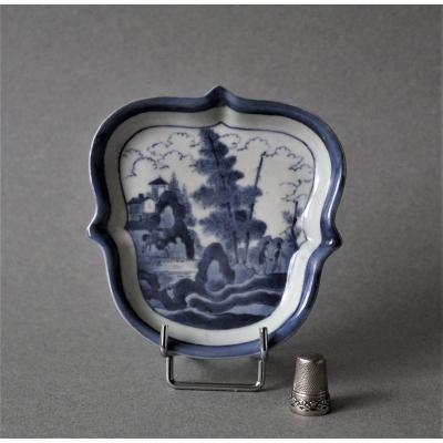 Japan: Small Porcelain Dish With Decor Inspired By Van Fryton, Early 18th Century