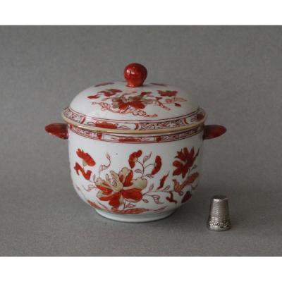 China: Small Covered Porcelain Pot Qianlong Period C 1750