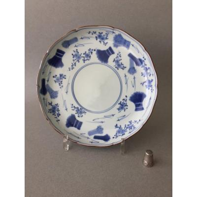 Japanese: Blue And White Kakiemon Plate C1690/1730