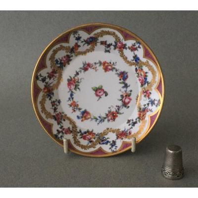 Sèvres: Soucoupe en porcelaine tendre 18ème Siècle