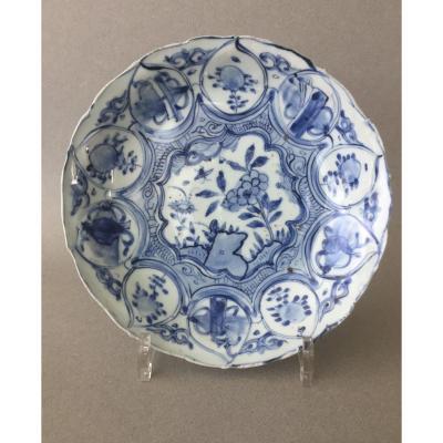 Chine: Assiette circulaire Karak  17ème Siècle