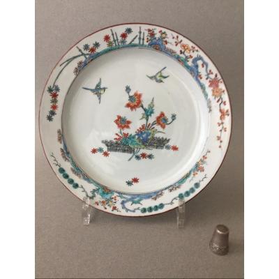 Chine: Assiette en porcelaine à décor Kakiemon 18ème