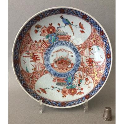 Chine: Plat circulaire en porcelaine 18ème