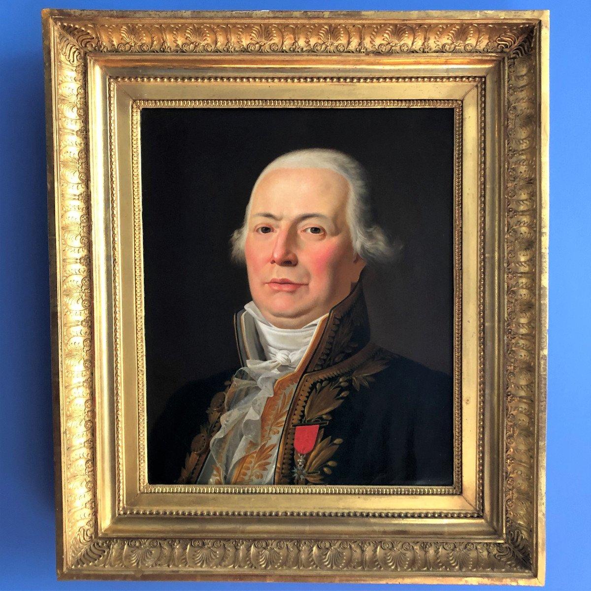 Portrait Of Griveau Deputy Of The Empire By Jean-charles Tardieu-cochin, Circa 1815