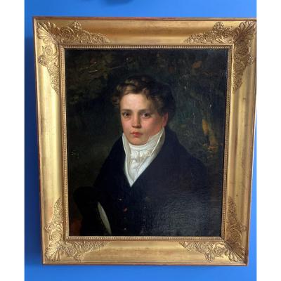 Portrait Of A Young Manfrom The Beginning Of The 19th Century