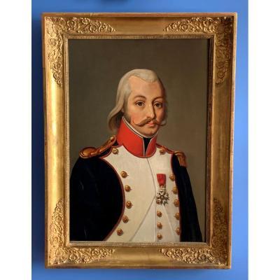 Portrait d'homme Officier Français à La Légion d'Honneur, époque Empire