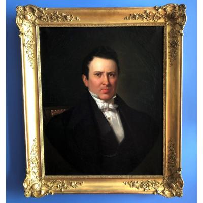 Beautiful Portrait Of Man, Empire Period Restoration