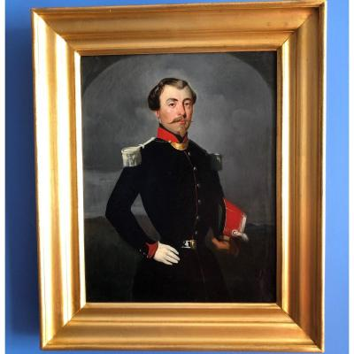 Portrait Of A French Officer, Napoleon III Period