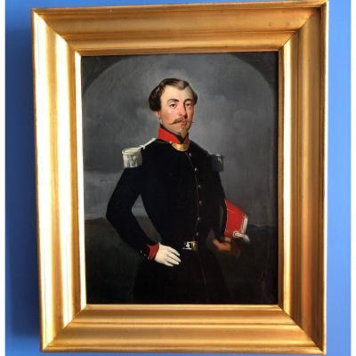 Portrait d'homme officier français, époque Napoléon III