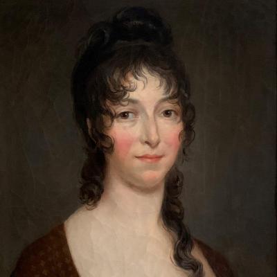Portrait d'Une Jeune Femme, époque Consulat-empire