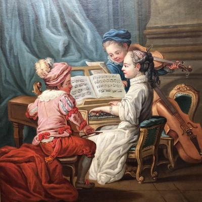 After Carle Van Loo: Allegory Of Music For Madame De Pompadour, 18th Century.
