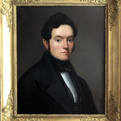 Portrait Of A Man, Restoration Period, Illegible Signature