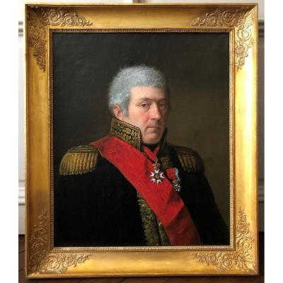 French School: Portrait Of A Military Man, A Major General, Circa 1815.