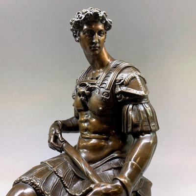 Bronze Julien De Medici Duke Of Nemours After Michelangelo - Michelangelo Susse Frères Edition