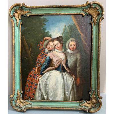 Commedia Dell'arte: After Pierre Antoine Quillard, 18th Century
