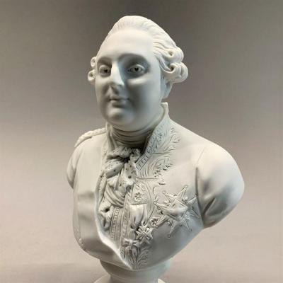 Buste royaliste en biscuit de LOUIS XVI