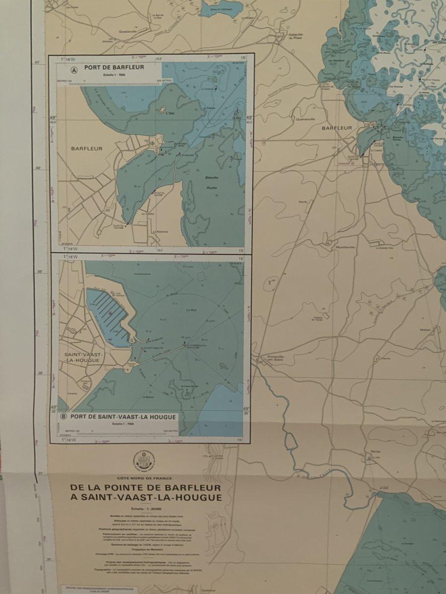 Carte Marine.  Côte  Nord  De  France  De Barfleur  à St Vaast La Hougue-photo-2