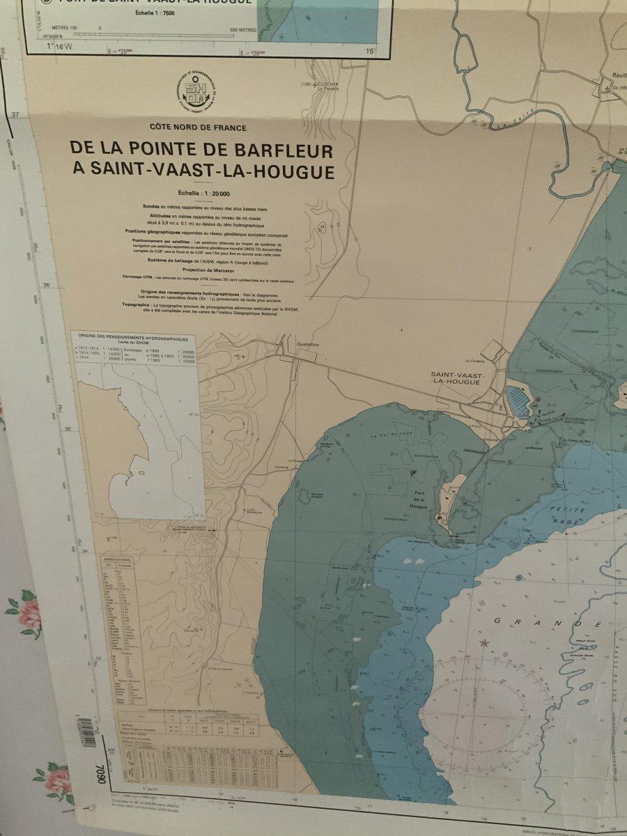 Carte Marine.  Côte  Nord  De  France  De Barfleur  à St Vaast La Hougue-photo-3