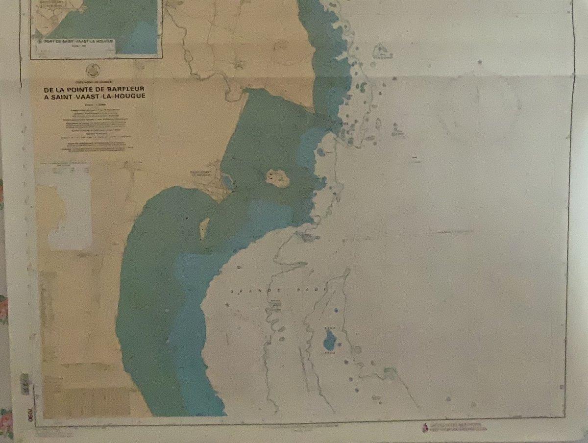 Carte Marine.  Côte  Nord  De  France  De Barfleur  à St Vaast La Hougue-photo-1